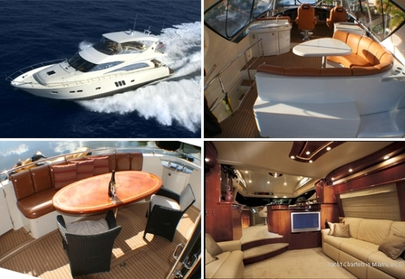 60\' Luxury Charter Yacht in Miami