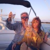 Couple Toasting on Yacht Rental in Miami