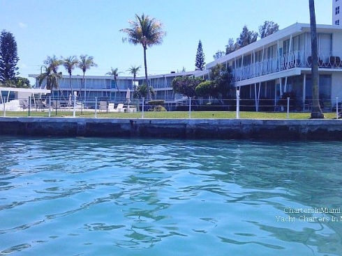 View from yacht of TV Dexter's Home in Miami