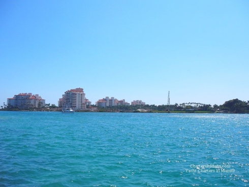 View of Fisher Island from boat