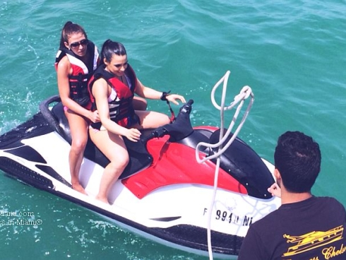 Girls on Jet Ski from Princess Chelsea yacht charter