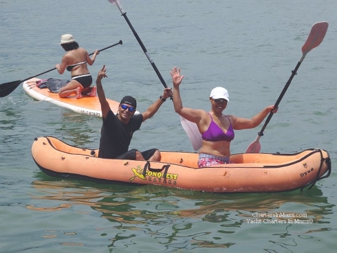 Miami Yacht Charter with kayak