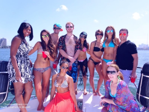 Princess Chelsea yacht charter in Miami group