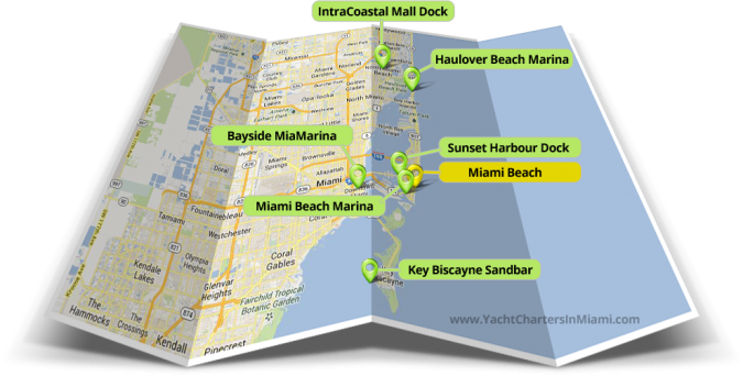 yacht charter miami marina locations
