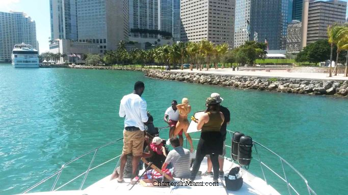 Music Video Filming on a Yacht in Miami