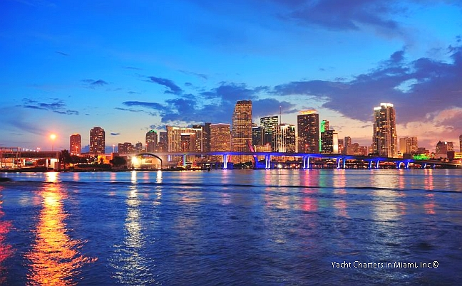 What Could Be More Than A Sunset Cruise Overlooking The Famed Miami Skyline With Her Skysers And Colorful Bridges Glistening Off Of Water